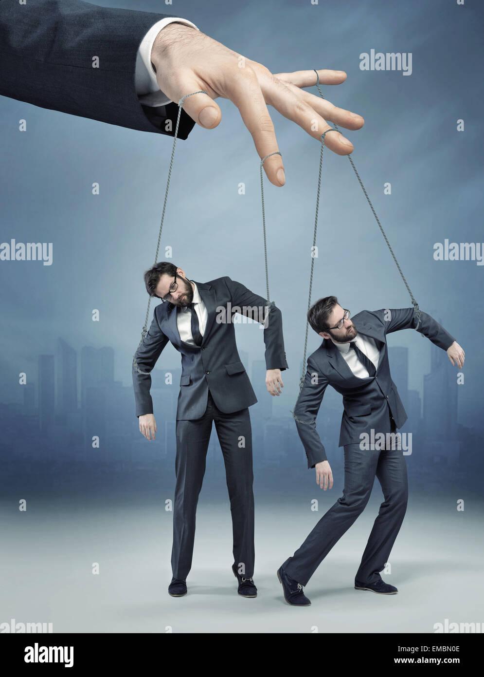 Konzeptionelle Foto von der menschlichen marionette Stockbild