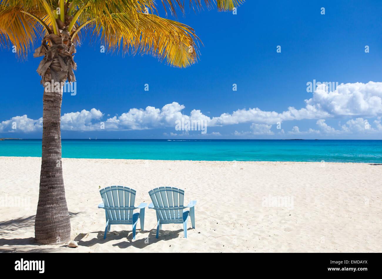 Schönen karibischen Strand Stockbild