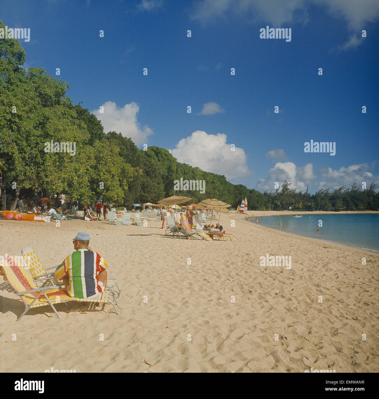 Kl-Antillen, Karibik, Insel Barbados, Strang Stockbild