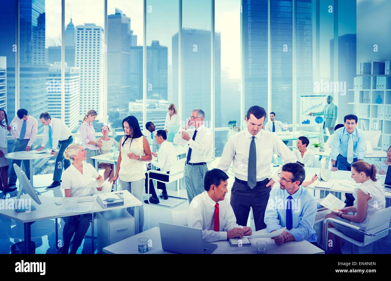 Geschäft Leute arbeiten in einem Büro Stockbild