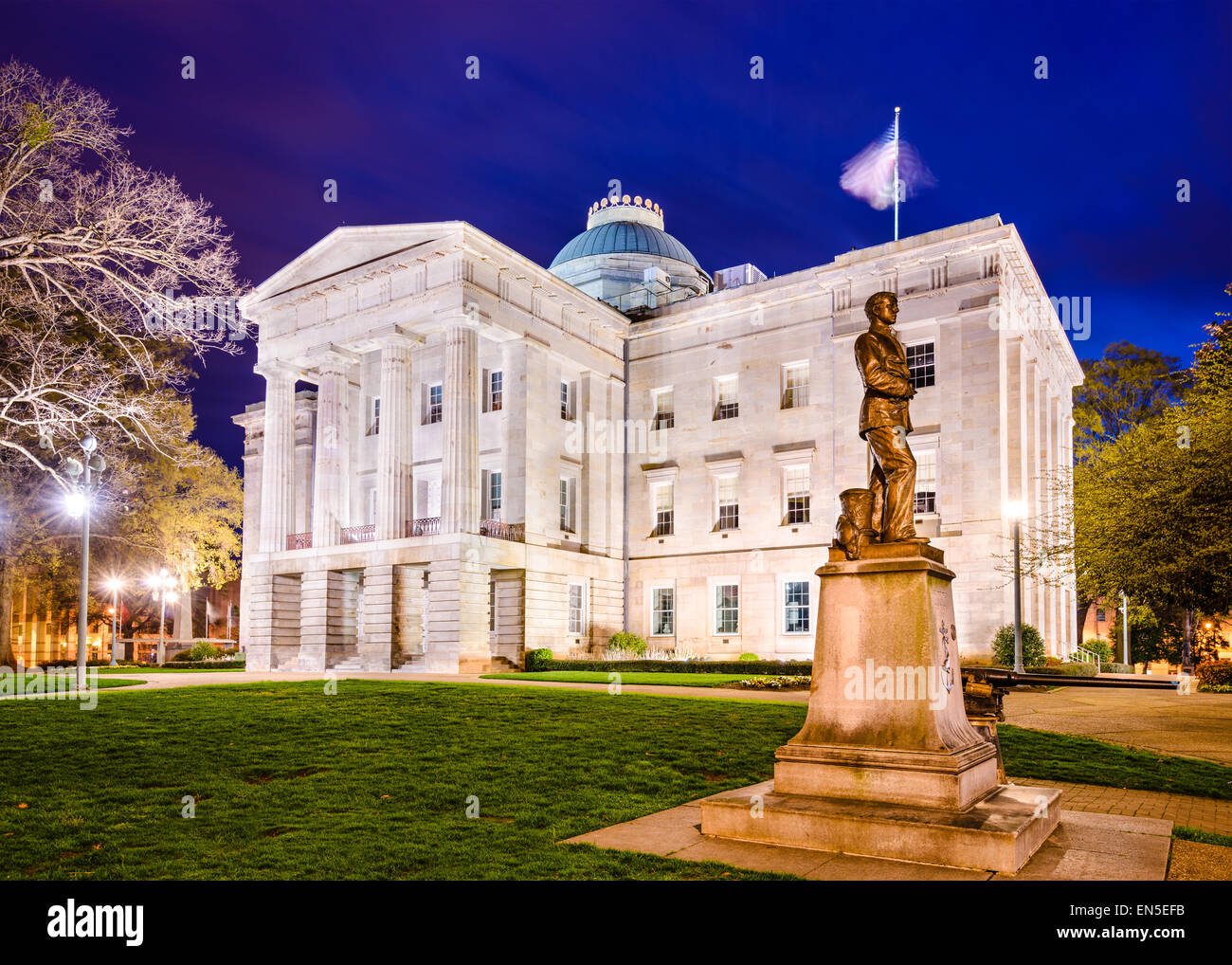 Raleigh, North Carolina, USA State Capitol Building. Stockbild