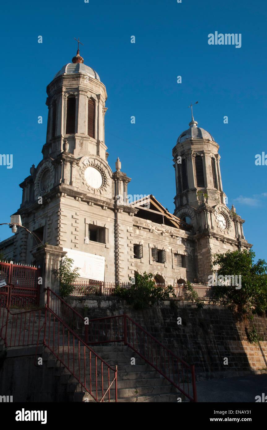 St. Johannes Kathedrale in St. John's, Hauptstadt von Antigua und Barbadu in der Karibik wurde 1845 erbaut. Stockbild