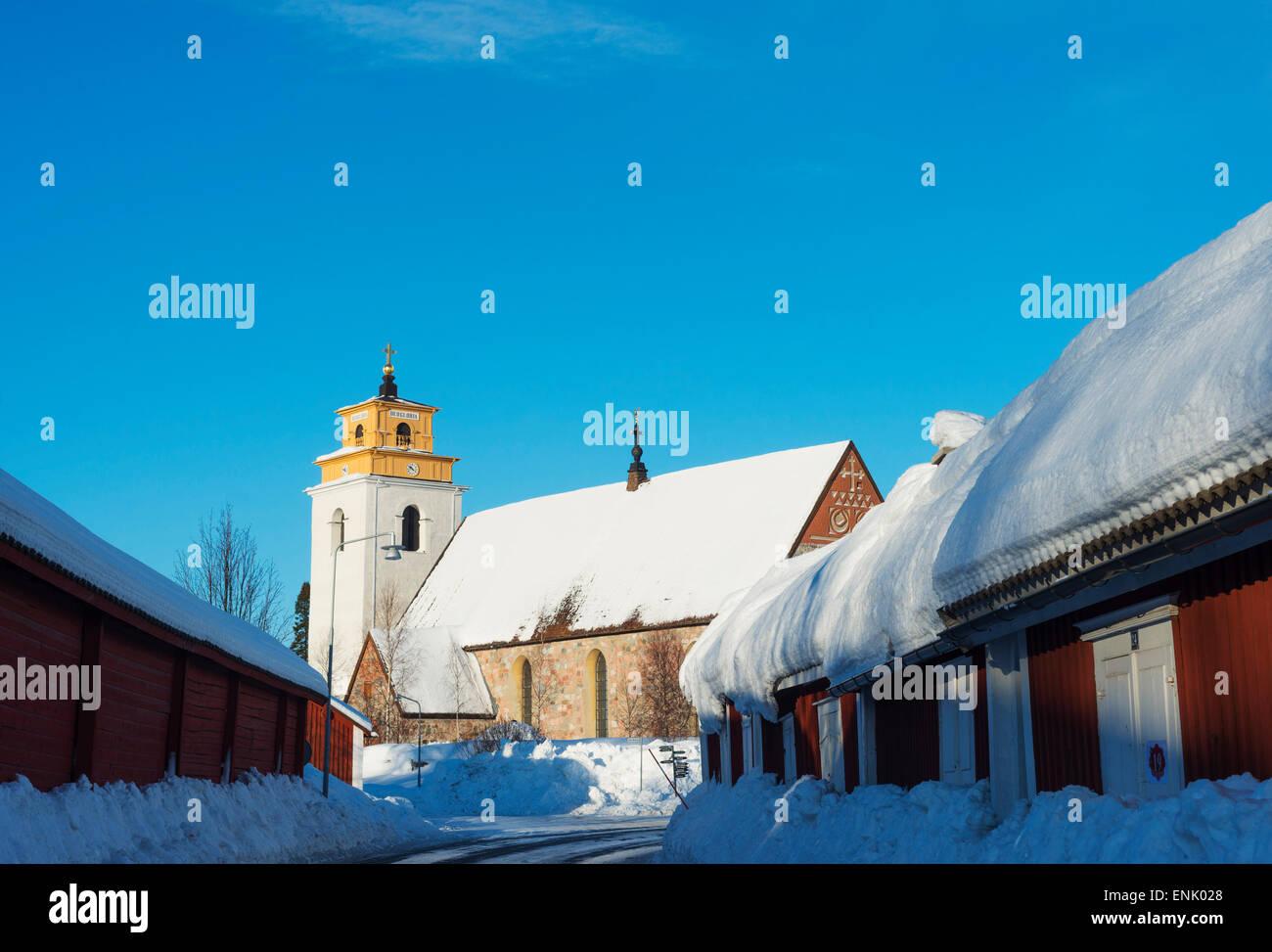 Gamelstad Altstadt, UNESCO-Weltkulturerbe, Lulea, Lappland, Arctic Circle, Schweden, Skandinavien, Europa Stockbild