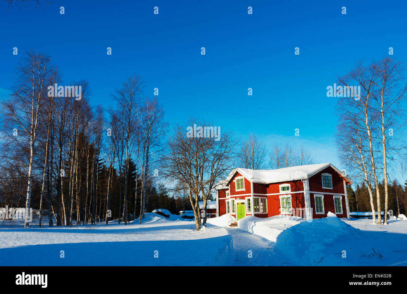 Gamelstad, Freilichtmuseum, UNESCO-Weltkulturerbe, Lulea, Lappland, Arctic Circle, Schweden, Skandinavien, Europa Stockbild