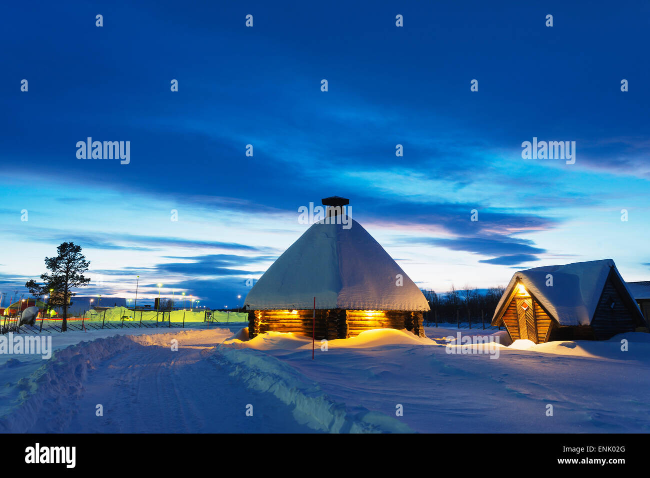 Kiruna, Lappland, Arctic Circle, Schweden, Skandinavien, Europa Stockbild