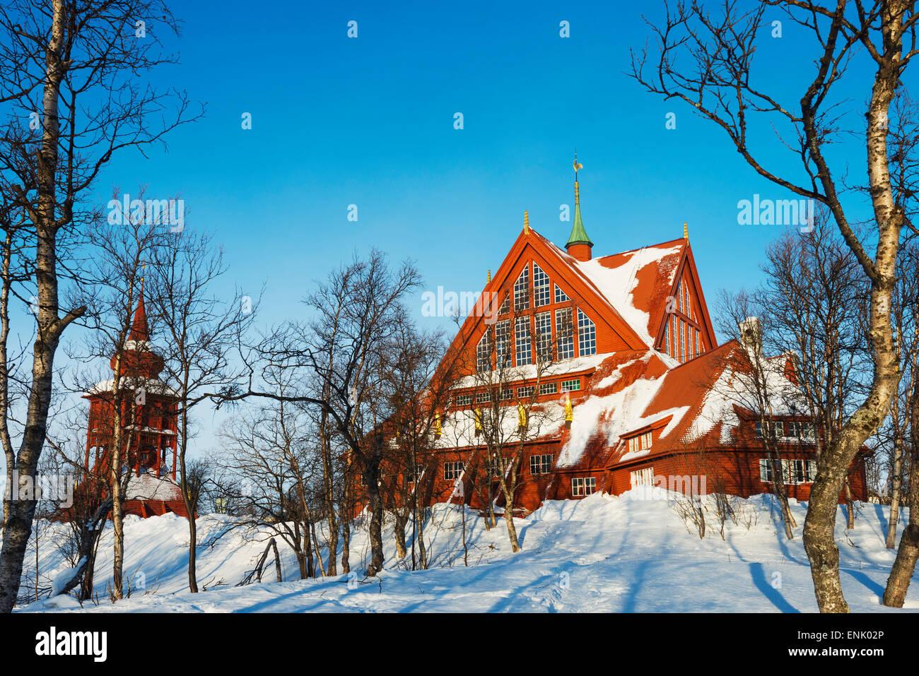 Kirche von Kiruna, Kiruna, Lappland, Arctic Circle, Schweden, Skandinavien, Europa Stockbild