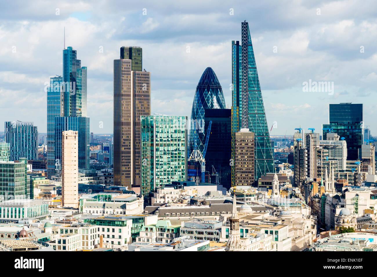 Der Londoner Skyline, London, England, Vereinigtes Königreich, Europa Stockbild