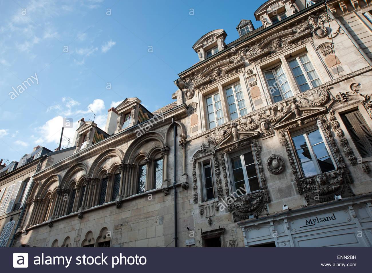 Dijon, Altstadt Stockbild
