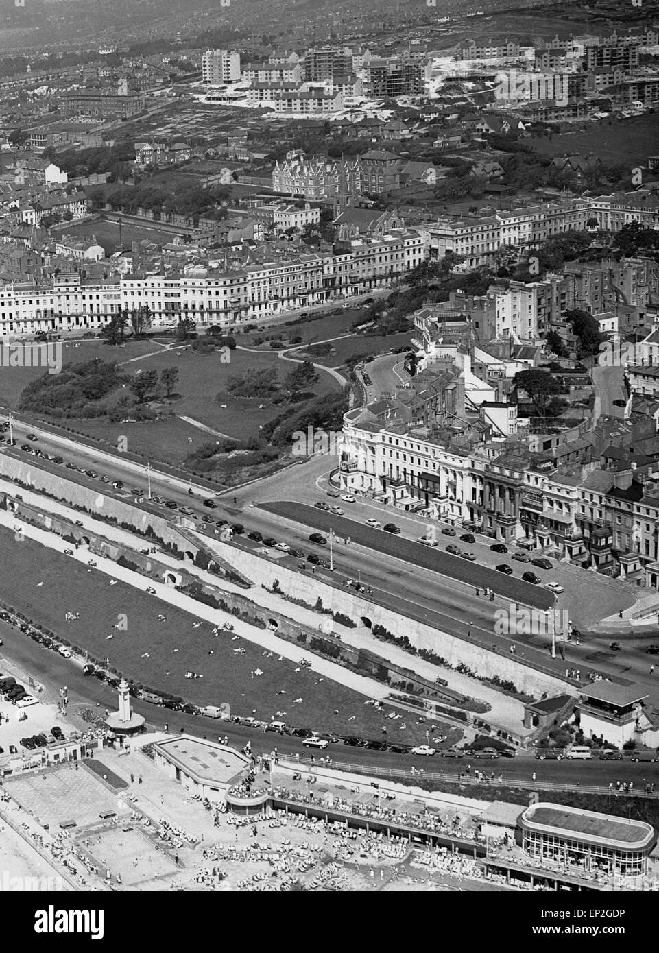 Vor Brighton, East Sussex, 4. August 1957. Stockbild