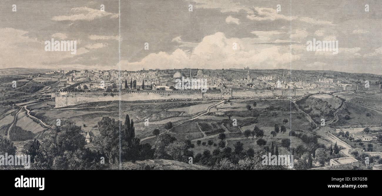 Panorama von Jerusalem. Stockbild