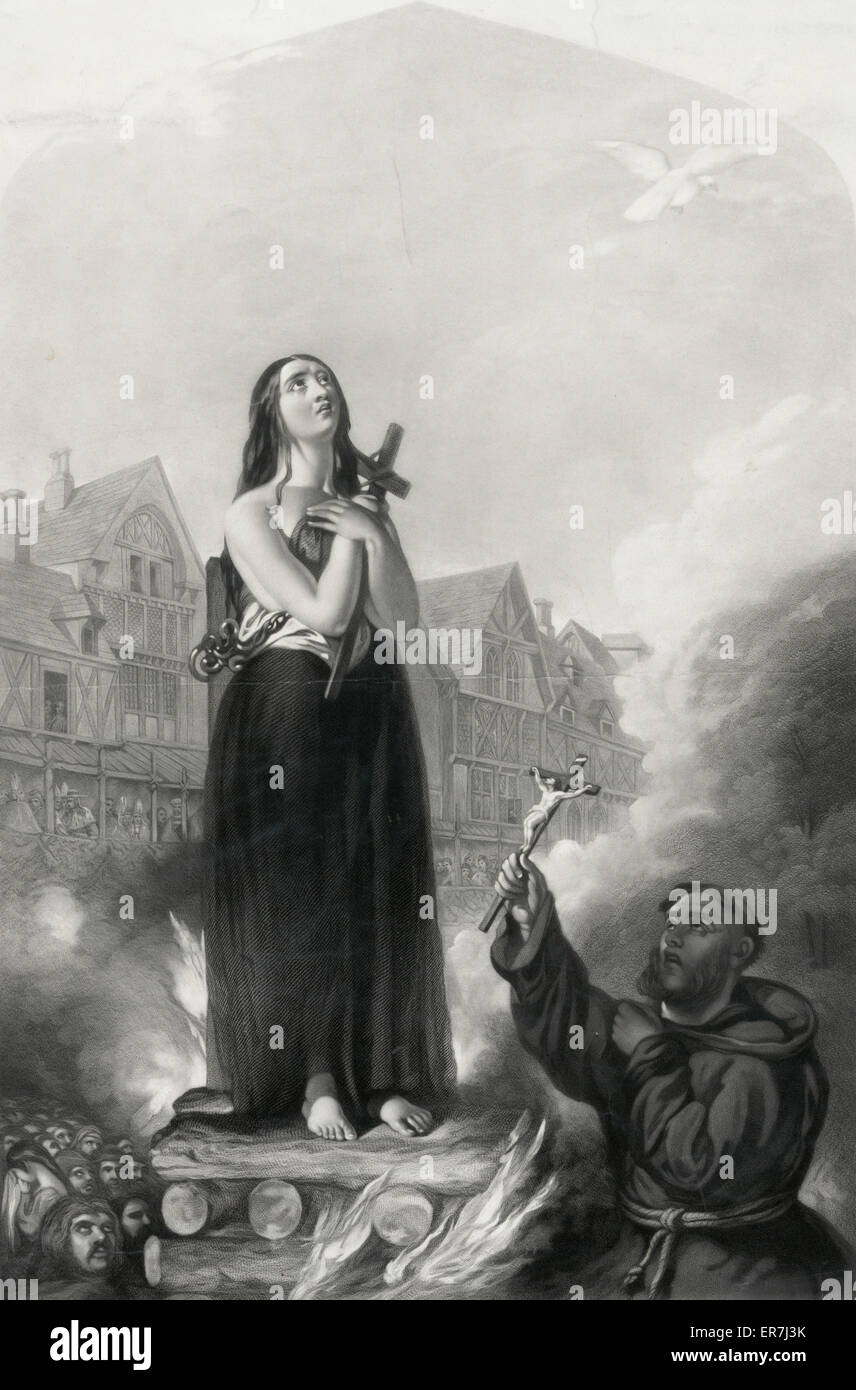 Joan of Arc, Datum c1851. Stockbild