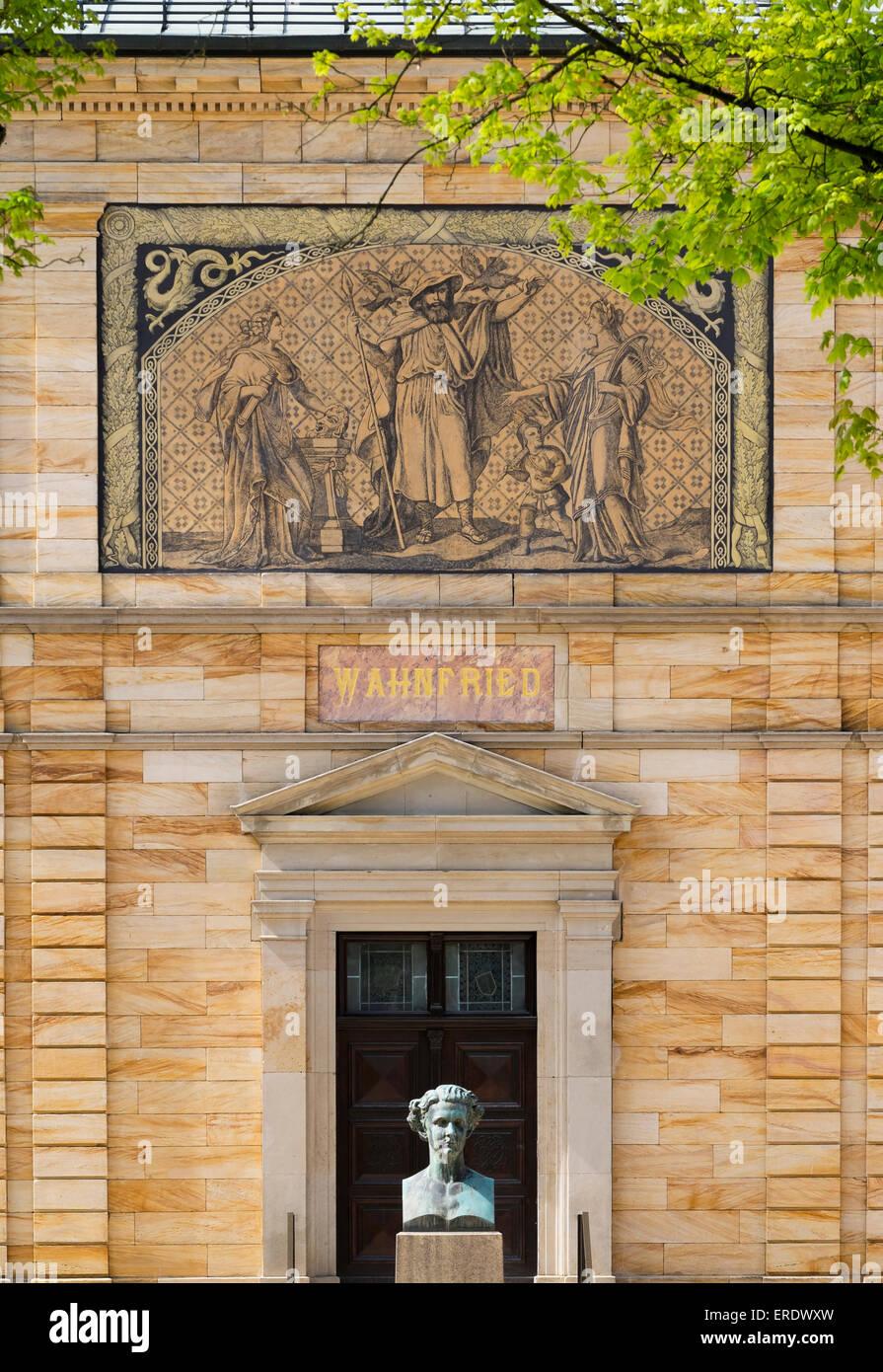 Villa Wahnfried, Richard Wagner Museum, Bayreuth, Oberfranken, Franken, Bayern, Deutschland Stockbild