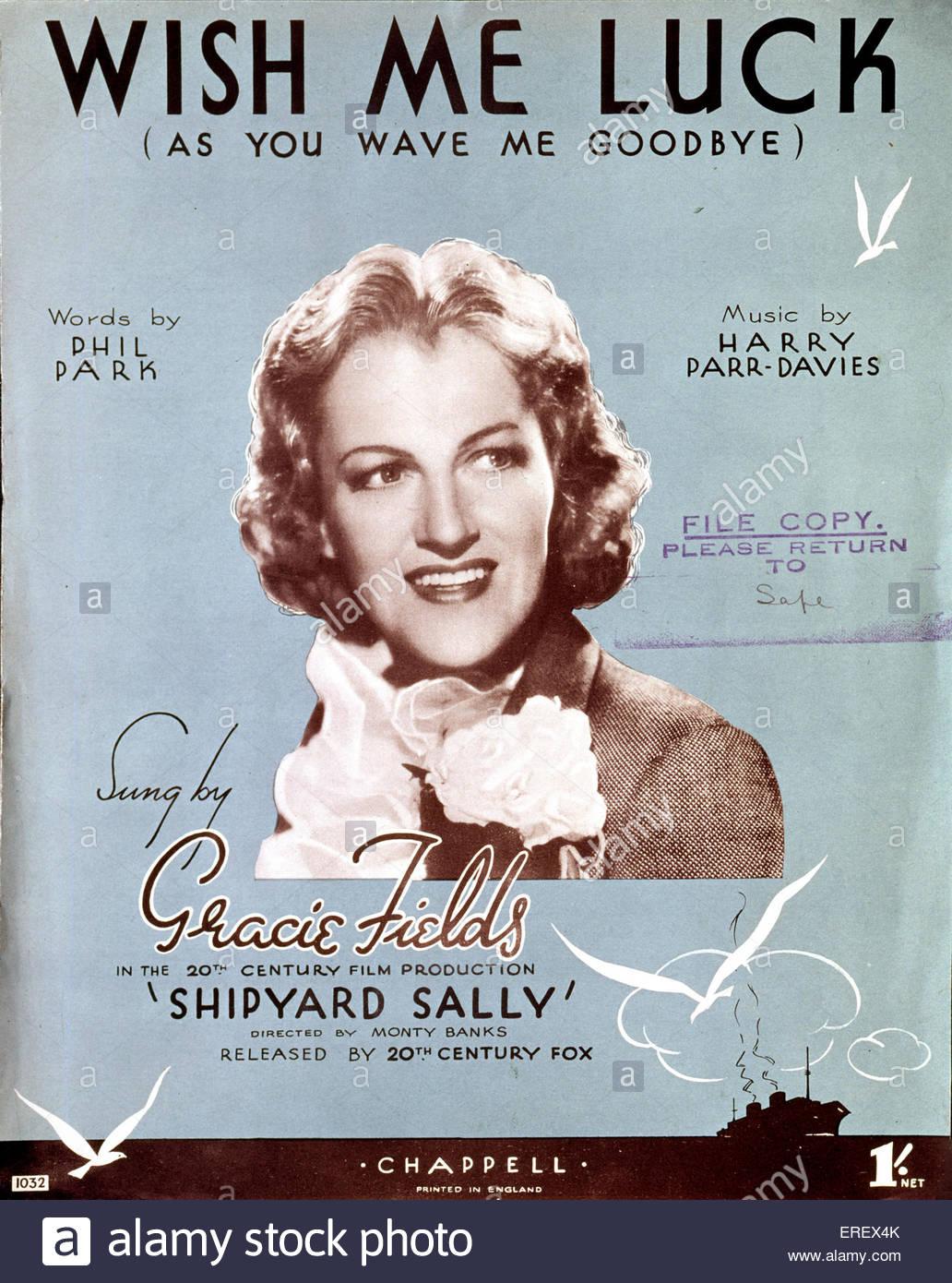 """Werft (Film 1939) Sally - Ergebnis Cover Song """"Wünscht mir Glück (als Sie winken mir)"""". Von Stockbild"""
