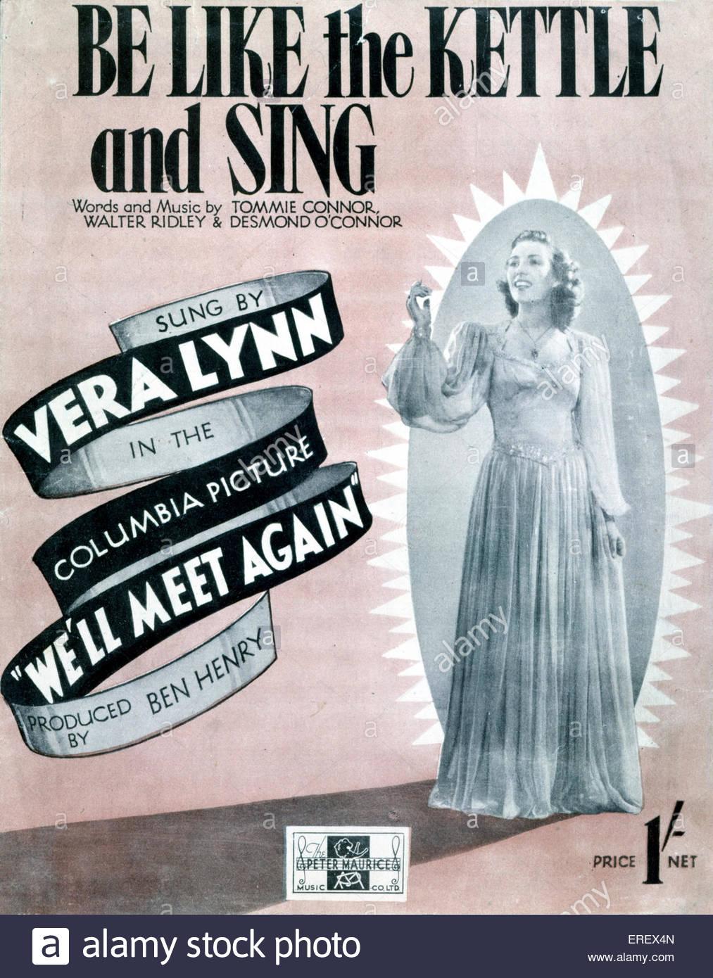 """Wir werden Meet Again (1943 Film) - Partitur decken zum Lied """"Sein wie des Wasserkochers und singen"""". Stockbild"""