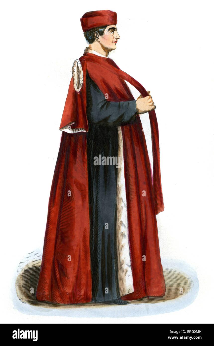 Venezianischer Senator im 15. Jahrhundert Italien.  Die Republik Venedig unter dem Preidency des Dogen geregelt. Stockbild