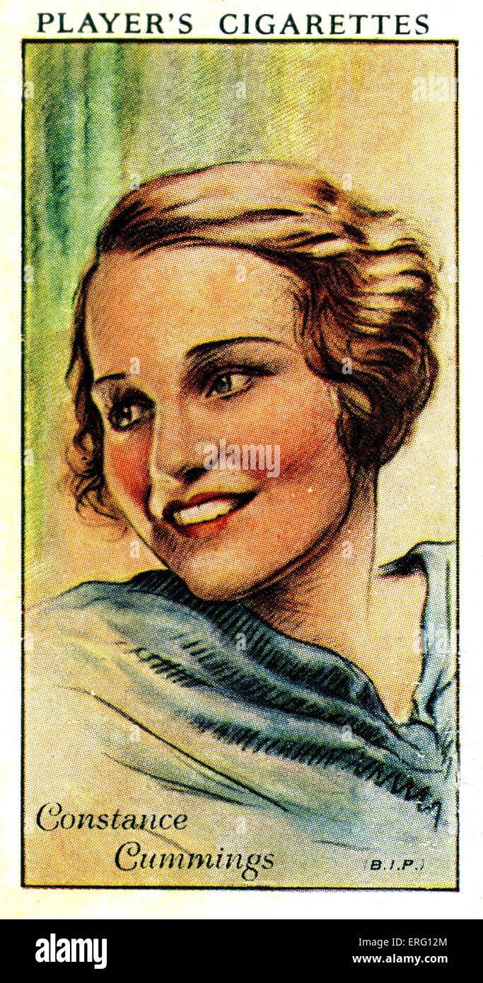 Constance Cummings, US-amerikanischer britische Schauspielerin. 15. Mai 1910 ? 23. November 2005. (Zigarette Spielerkarte). Stockbild
