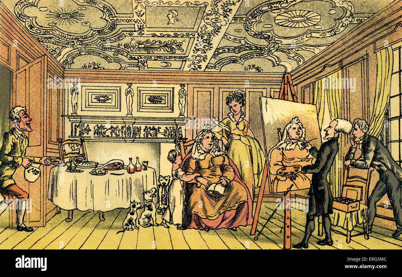 """""""Dr Syntax ein Porträt"""", Illustration von Thomas Rowlandson aus """"Doktor Syntax Tour in Suche Stockbild"""