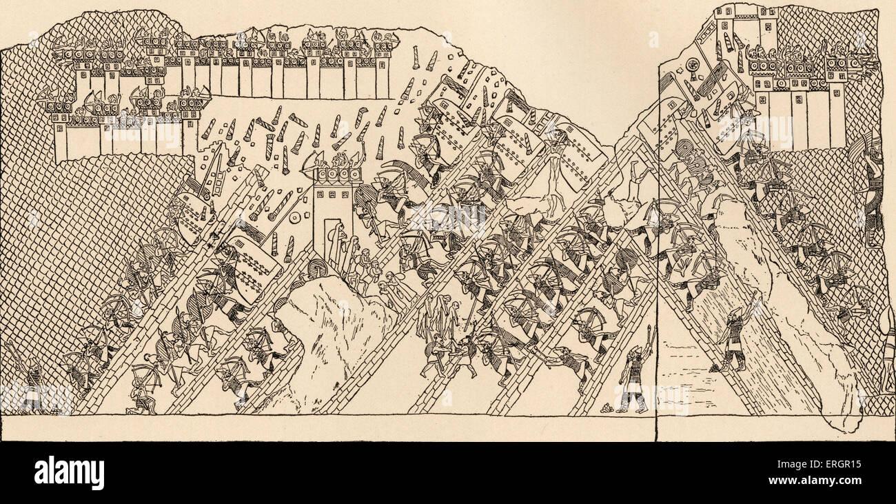 Belagerung von Lachish - militärischen Konflikt 701 v. Chr. zwischen dem Königreich von Judah und des Stockbild