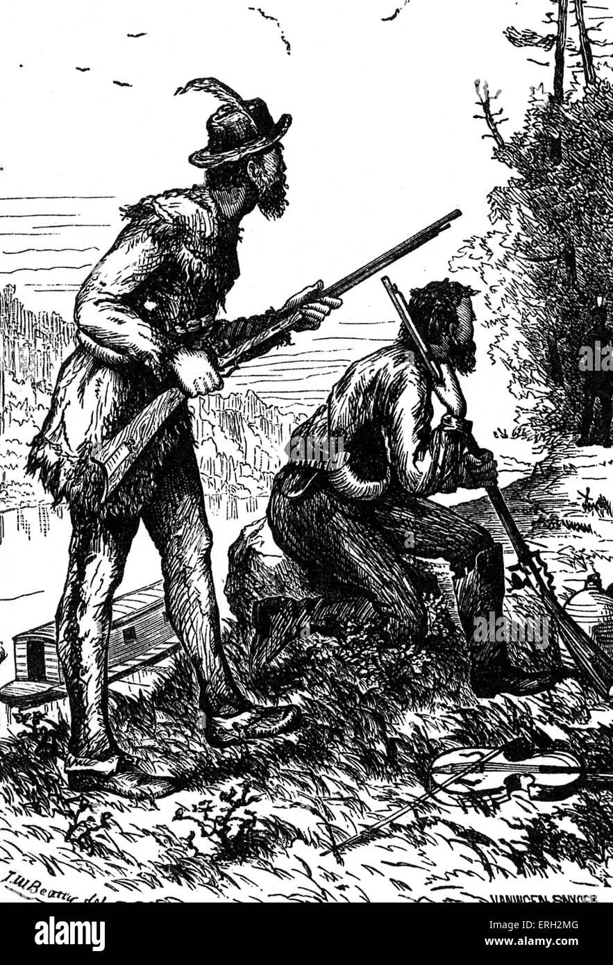 Mike Fink. Legendären amerikanischen Fluss-Schiffer. b. um 1770/1780 ? 1823. Stockbild