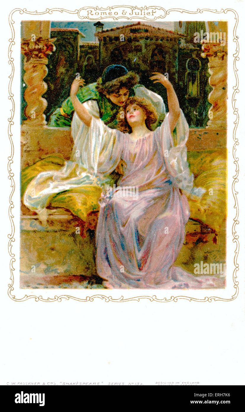 William Shakespeare - Romeo und Juliet Englisch elisabethanischen Dramatiker und Dichter 26. April 1564 - 23. April Stockbild