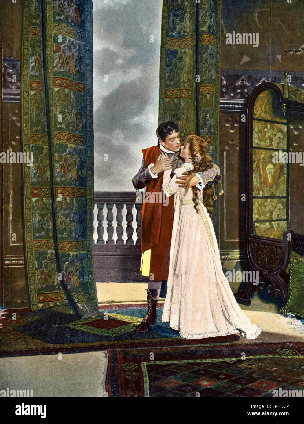 """Shakespeares """"Romeo & Julia"""" mit William Faversham als Romeo und Maud Adams als Juliet. Empire Theatre, Stockbild"""