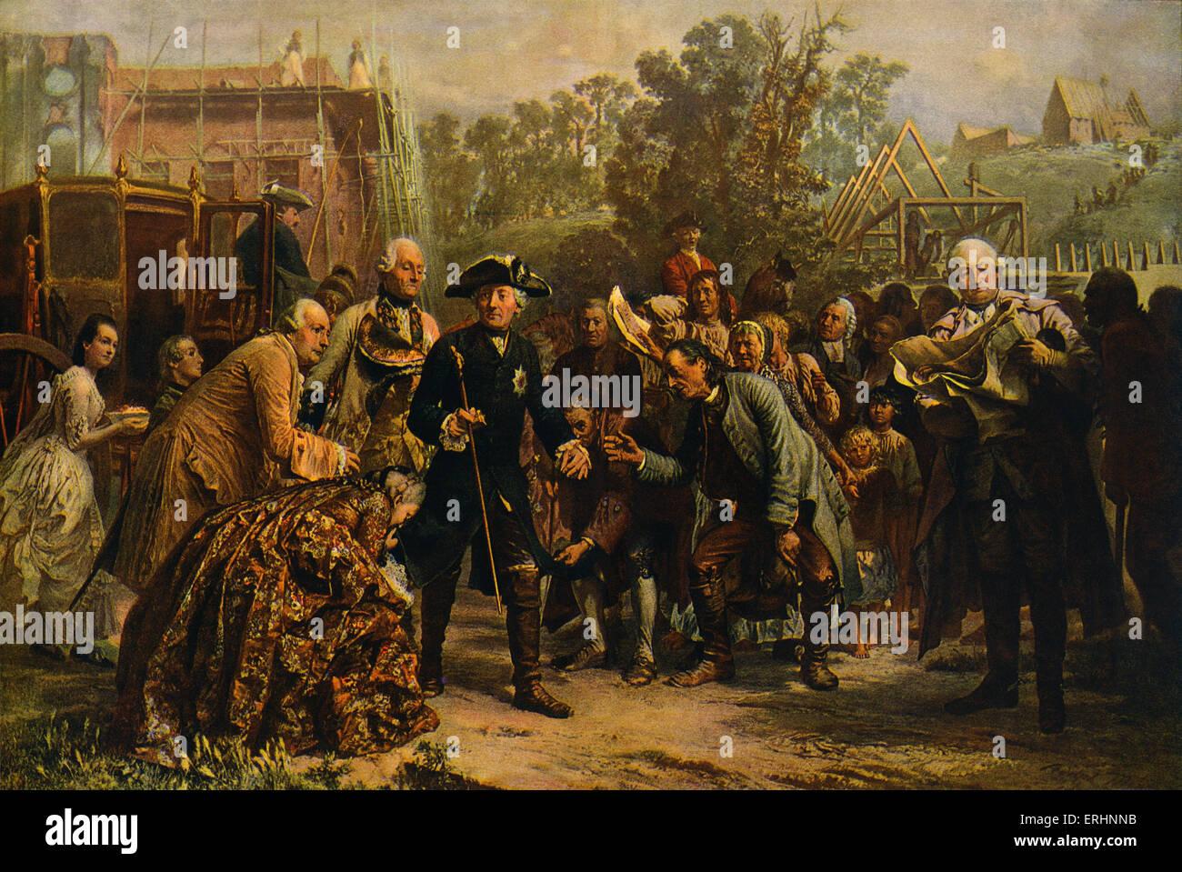 """""""Friedrich der Große Auf Reisen"""" (Friedrich der große auf seinen Reisen) - nach einem Gemälde Stockbild"""