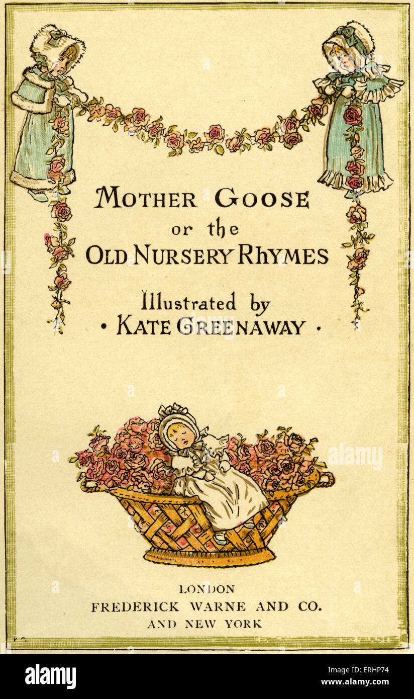 Mutter Gans oder die alte Kinderreime von Kate Greenaway / London, Frederick Warne veröffentlicht. (Erste veröffentlichte Stockbild