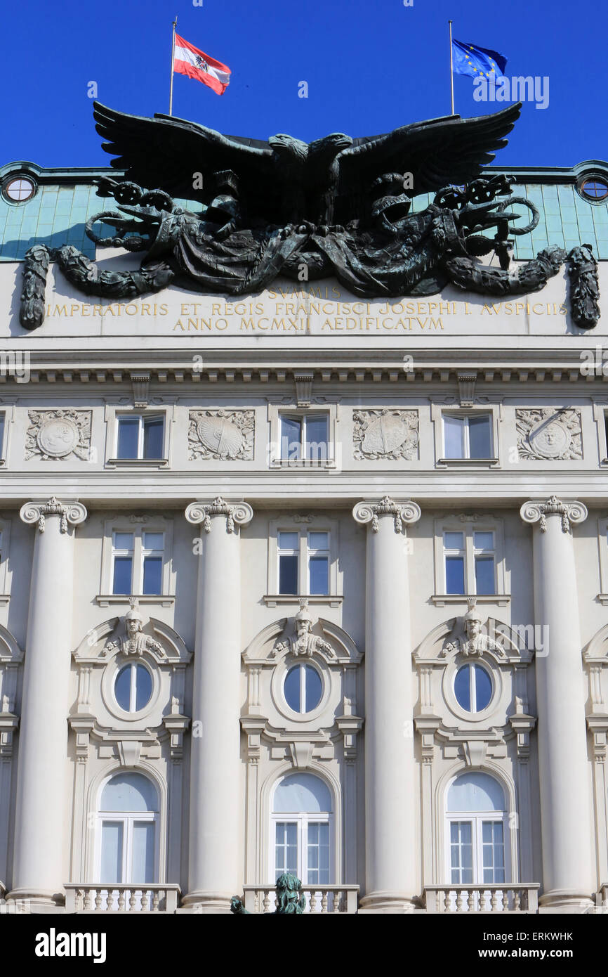 Eidgenössischen Departement für nationale Verteidigung und Sport, Wien, Austria, Europe Stockbild