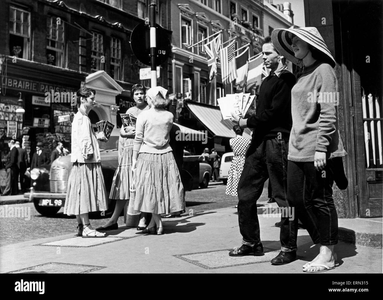 Dean Street, Soho. Ca. 1955. Stockbild