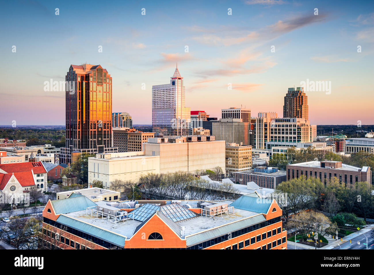 Die Innenstadt von Skyline von Raleigh, North Carolina, USA. Stockbild