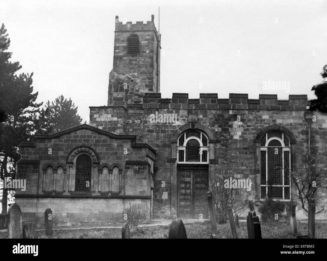 Yarm Pfarrkirche, Stockton, ca. 1955. Stockbild