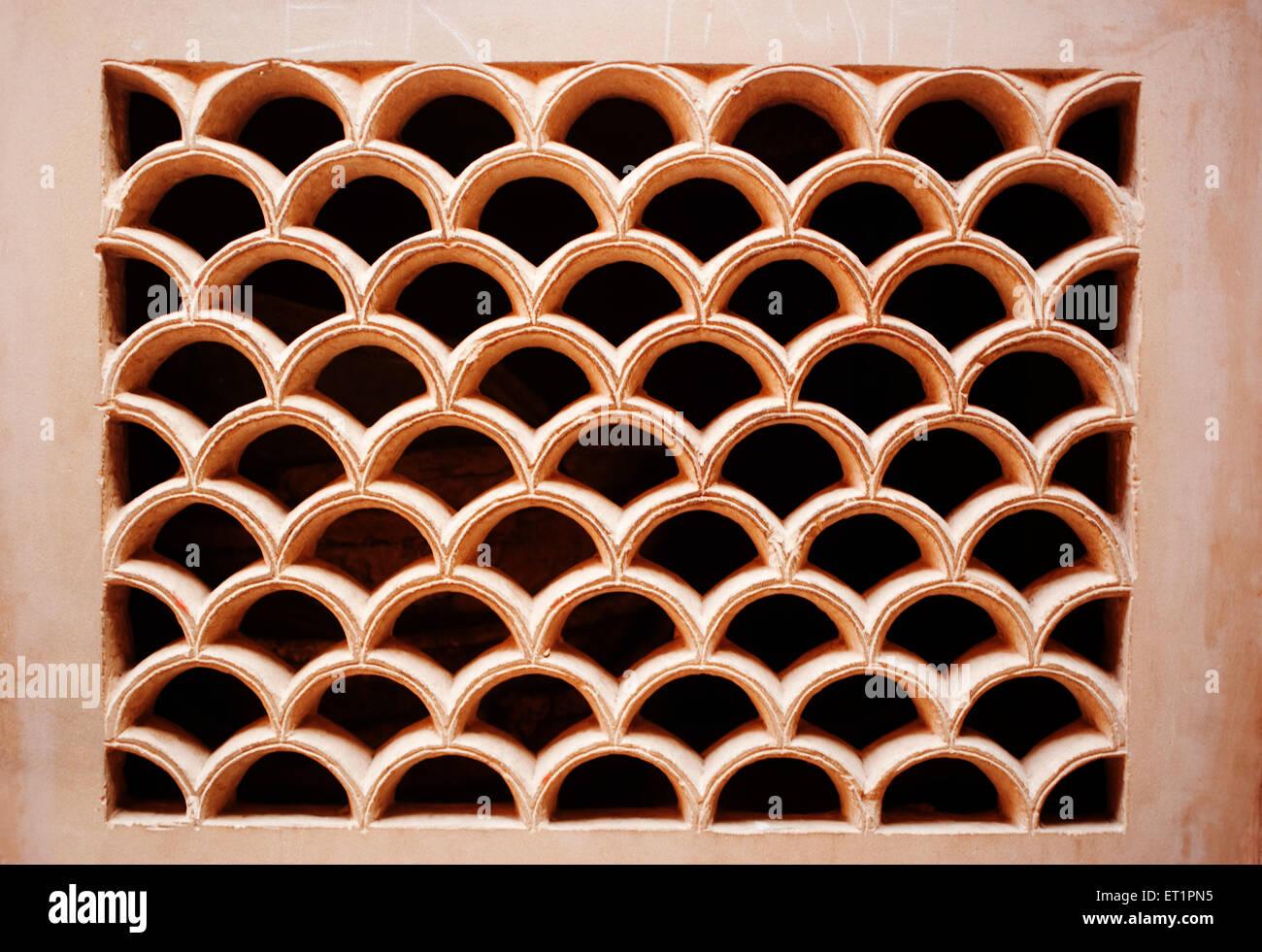 Jali Muster im Mann Mandir Palace; Gwalior; Madhya Pradesh; Indien Stockbild