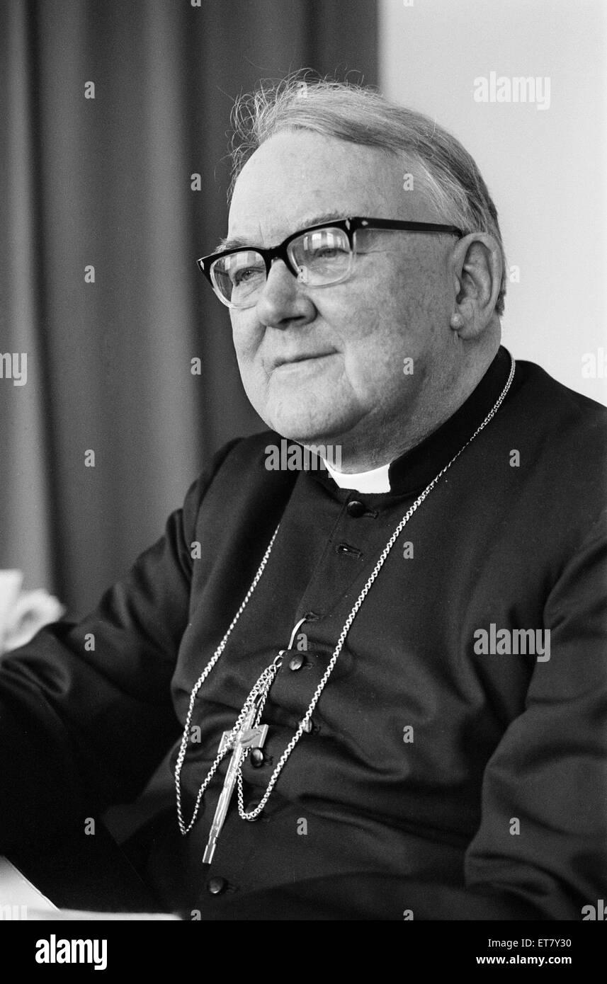 Doktor Patrick Dwyer, der römisch-katholische Erzbischof von Birmingham, Bild, 22. Dezember 1975. Doktor Patrick Stockbild