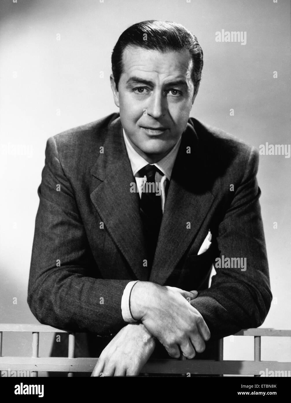 Schauspieler Ray Milland, Portrait, 1951 Stockbild