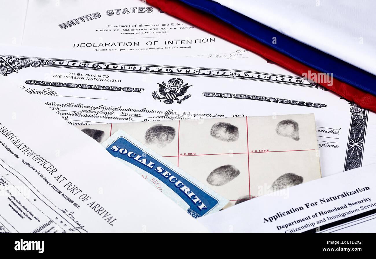 Us Certificate Of Citizenship Erklrung Der Absicht Fingerpirnt