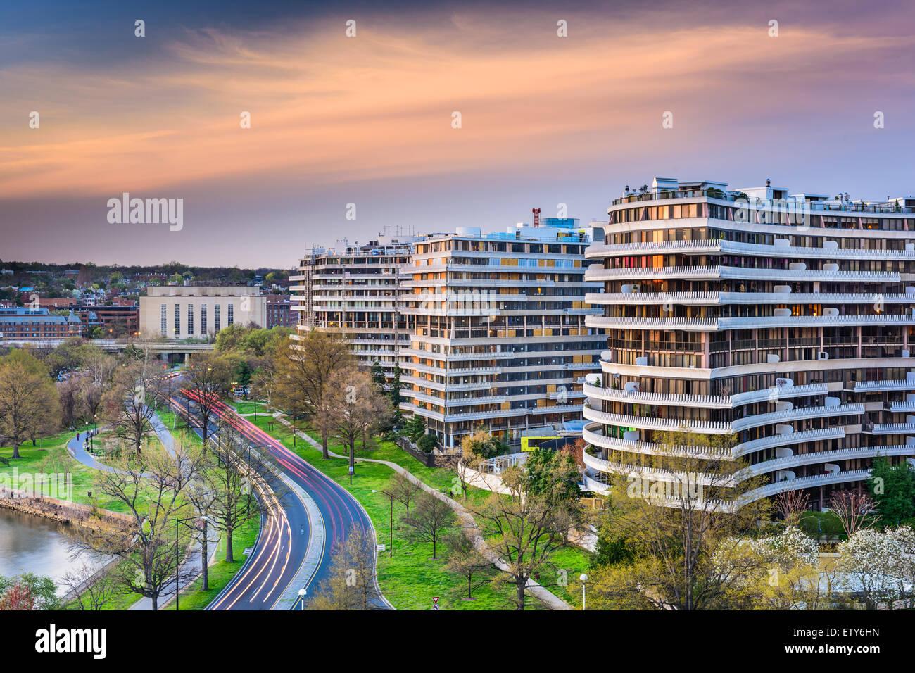 Washington, DC, USA Stadtbild im Stadtteil Foggy Bottom. Stockbild