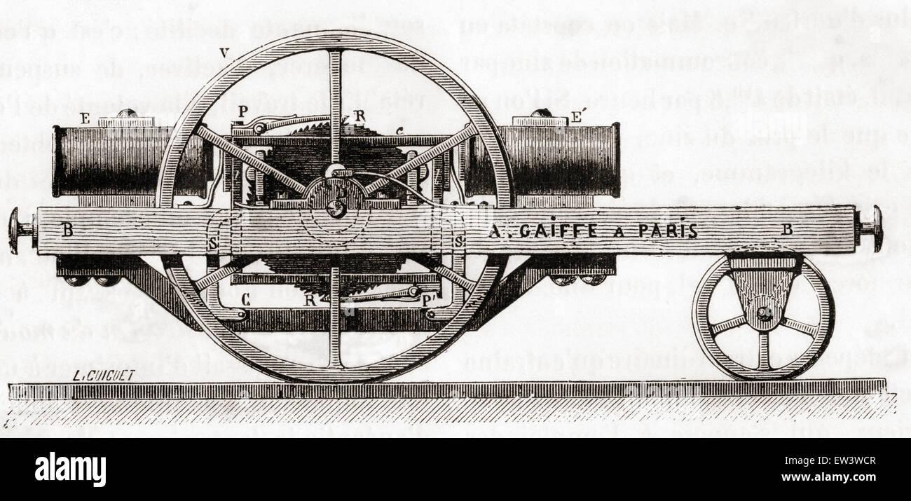 Ein Elektromotor von Ladislas Adolphe Gaiffe, 1832-1887 erfunden Stockbild
