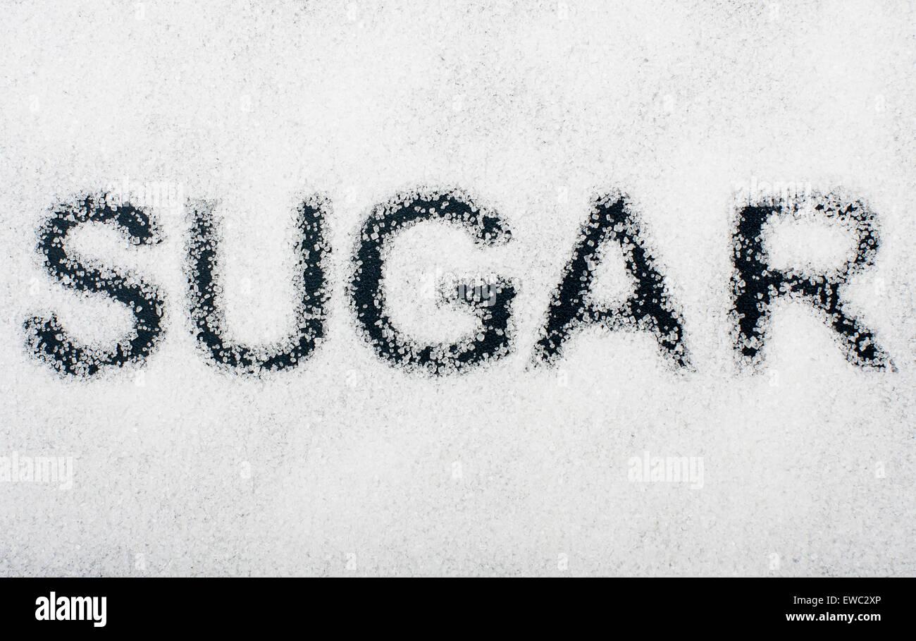 Ungesunde Lebensmittel Konzept - Zucker Stockbild