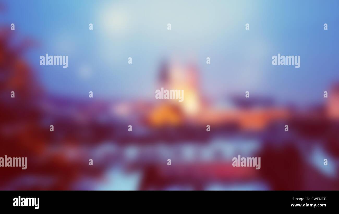 Unscharfen Hintergrund mit Kathedrale von Zagreb Stockbild