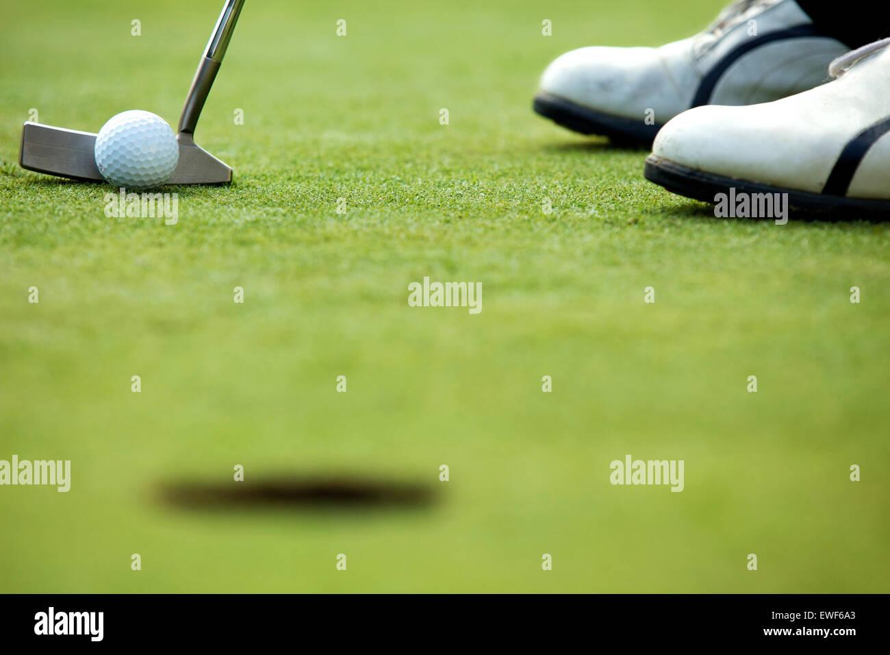 Ein Golf-Club auf einem Golfplatz Stockbild
