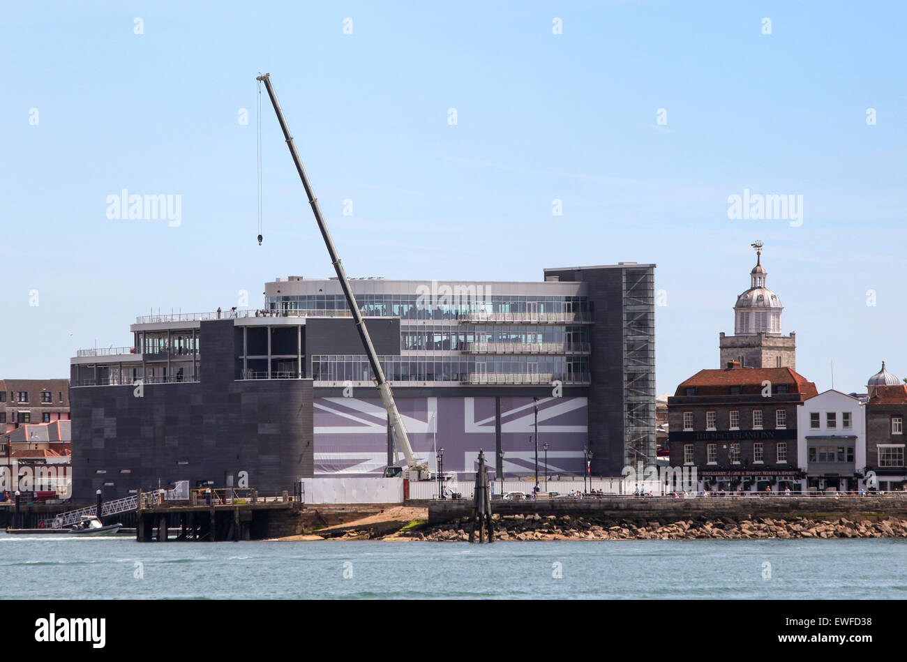 Ben Ainslie Racing BAR Head Quarters in Portsmouth Stockbild