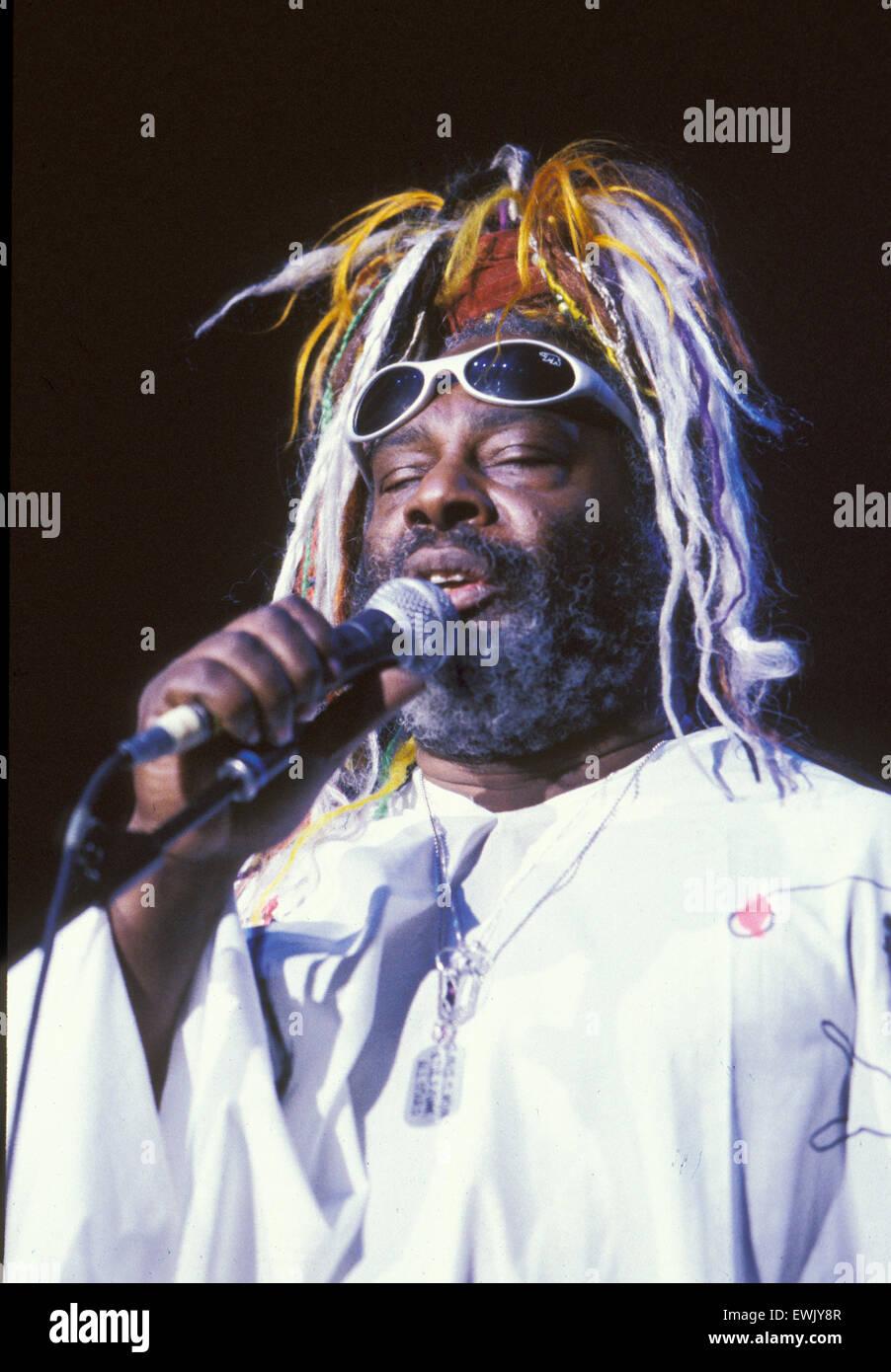 GEORGE CLINTON U.S. Sänger im Jahr 1998 Stockbild