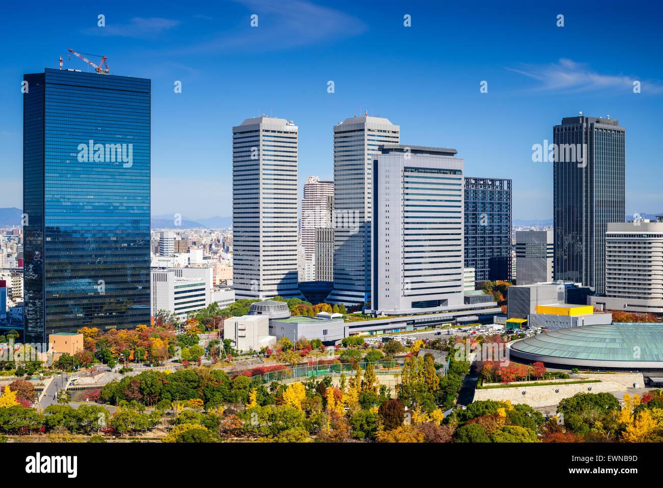 Osaka, Japan Stadtbild im Osaka Business Park im Herbst. Stockbild