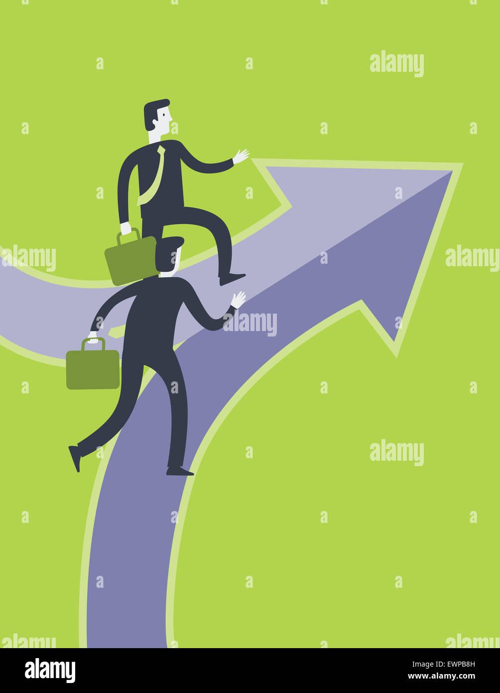 Business-Partnerschaft Stockbild