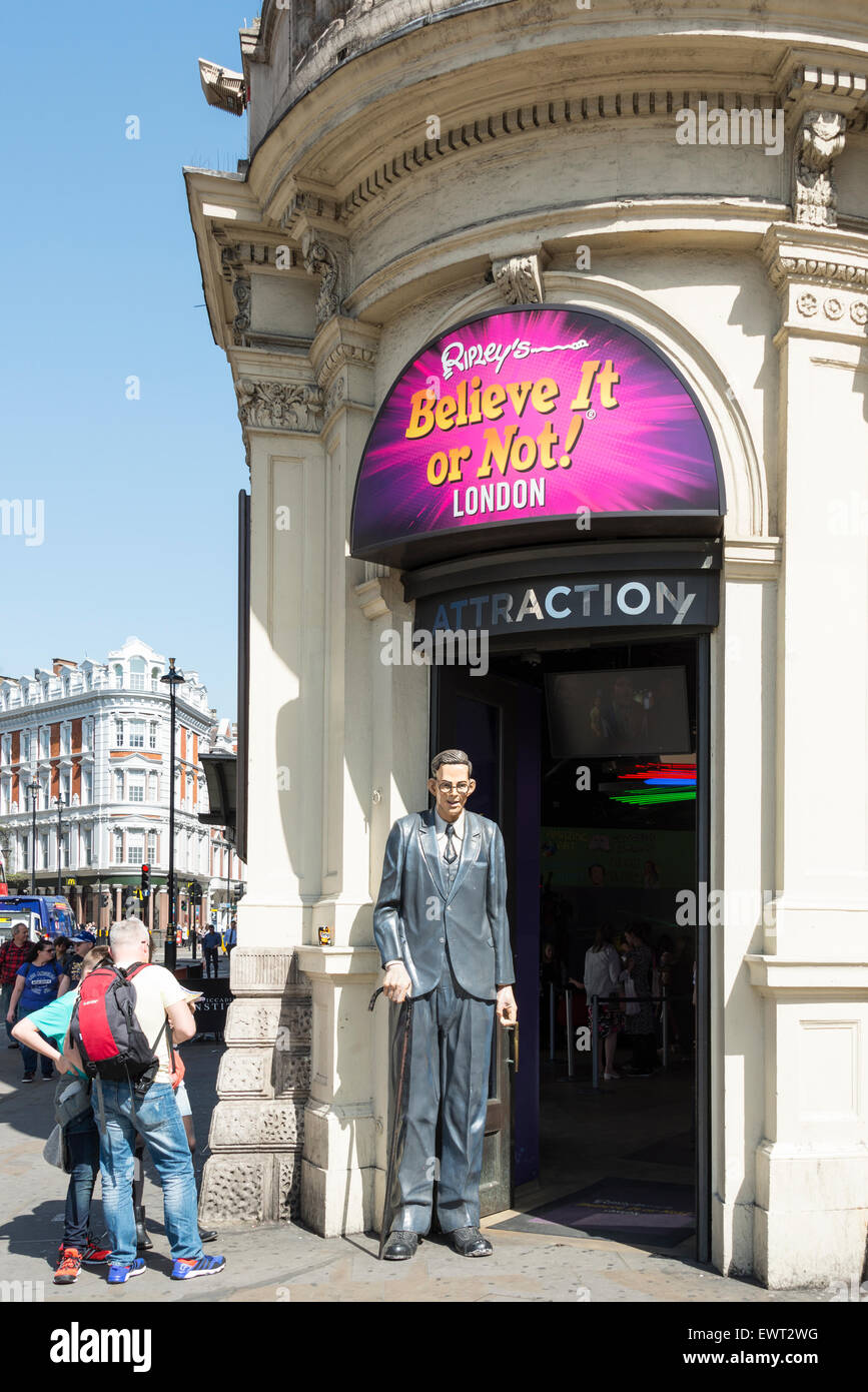 Ripleys glauben es oder nicht! Attraktion, Piccadilly Circus, West End, The City of Westminster, London, England, Stockbild