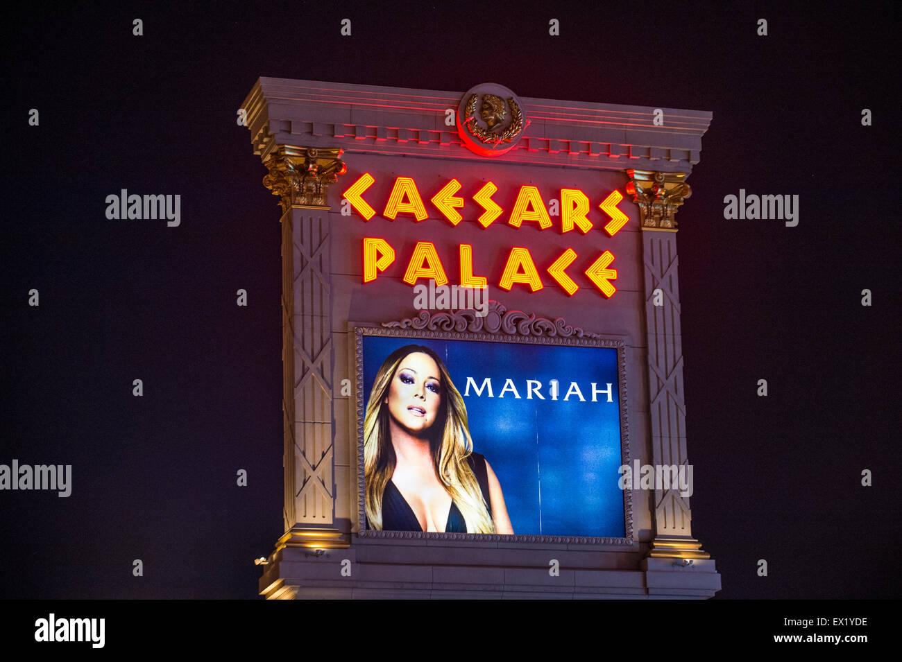 Mariah Carey anzeigen Plakat im Caesars Palasthotel in Las Vegas Stockbild