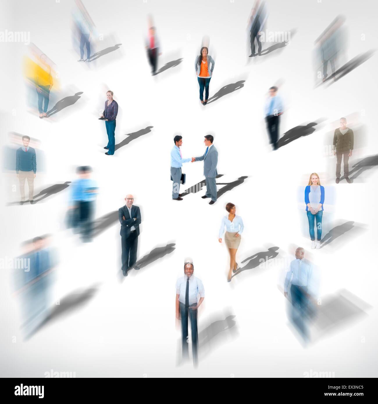 Unterschiedliche ethnische Besetzung fröhlich Variation Geschäftskonzept Stockbild