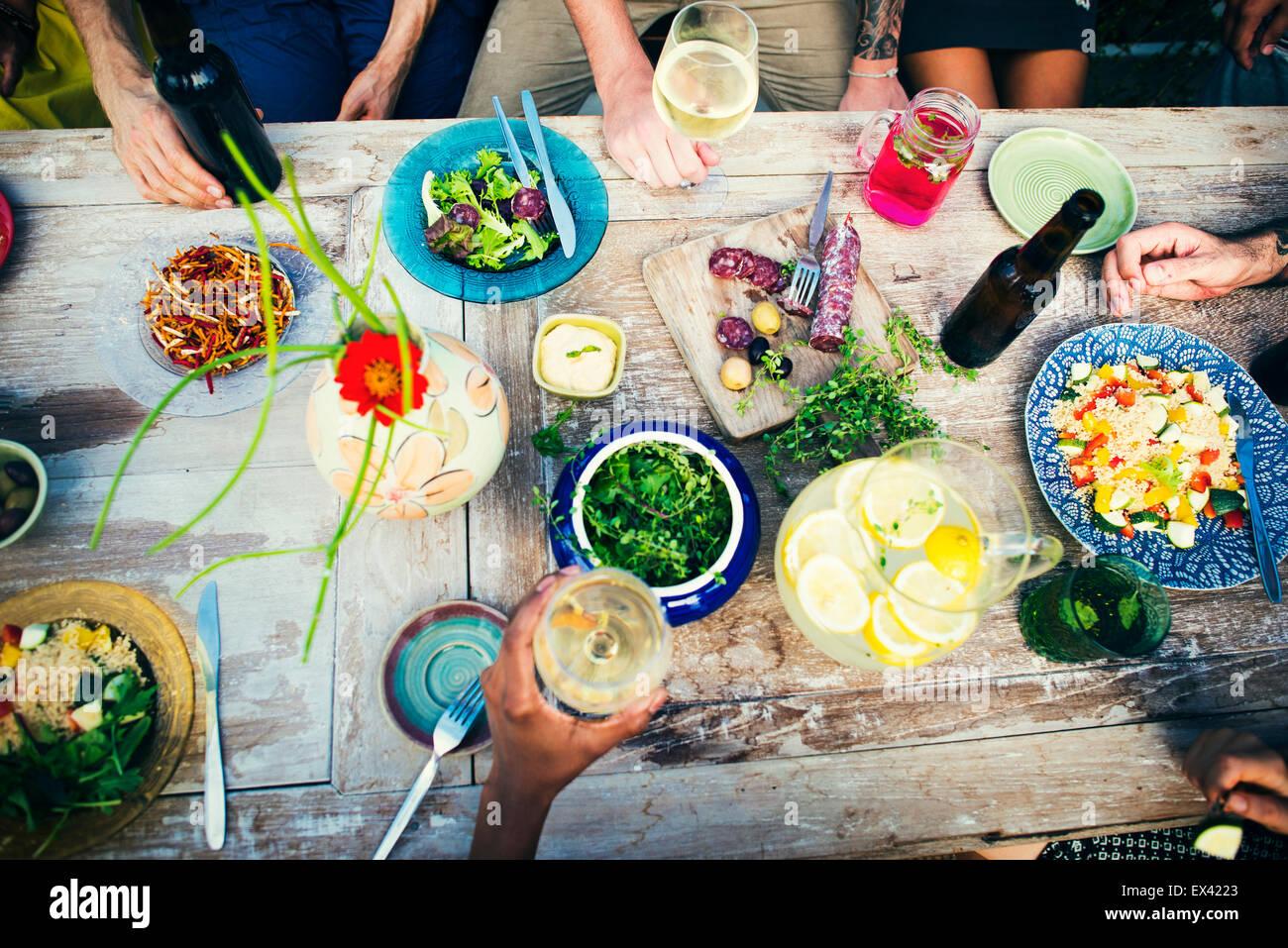 Essen gesunde Bio Essen Tischkonzept Stockbild