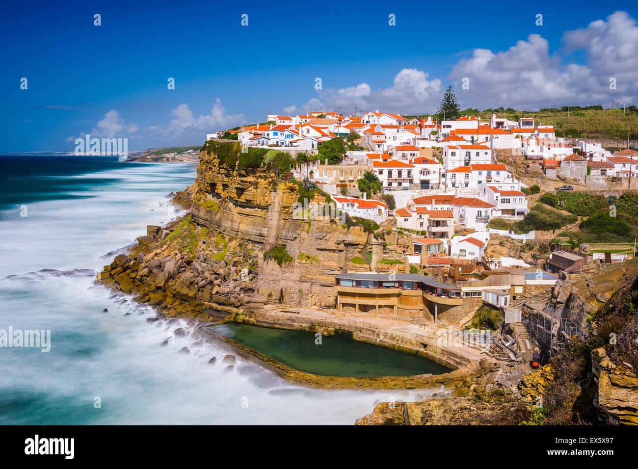 Azenhas Do Mar, Portugal Stadt am Meer. Stockbild