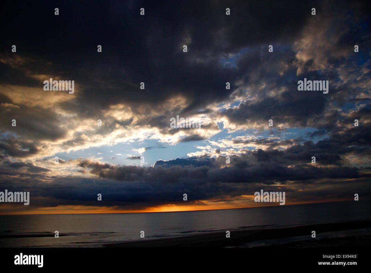 Impressionen: Himmel, Sylt. Stockbild